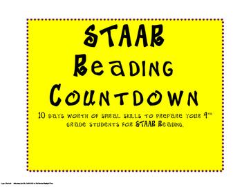 STAAR Reading Countdown Spiral of Skills