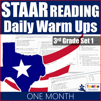 STAAR Reading Daily Warm Ups 3rd Grade #1