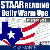 STAAR Reading Daily Warm Ups 4th Grade #1