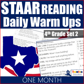 STAAR Reading Daily Warm Ups 4th Grade #2