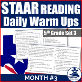 STAAR Reading Daily Warm Ups 5th Grade (Set 3)