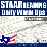 STAAR Reading Daily Warm Ups 5th and 6th Grade