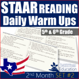 STAAR Reading Daily Warm Ups 5th and 6th Grade [Set #2]
