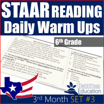 STAAR Reading Daily Warm Ups 6th Grade #3