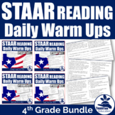 STAAR Reading Daily Warm-ups 4th Grade Bundle