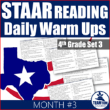 STAAR Reading Daily WarmUps 4th Grade #3