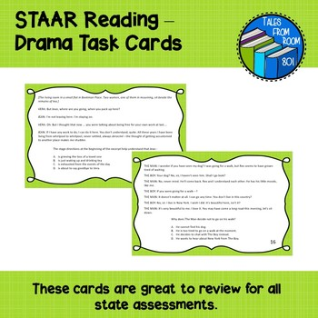 STAAR Reading - Drama Task Cards