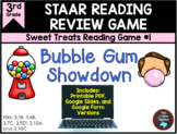 STAAR Reading Game #1:  Bubble Gum Showdown & Task Cards T