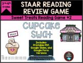 STAAR Reading Game #2:  Cupcake Swat & Task Cards TEKS Aligned