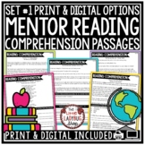 Digital Mentor Texts Reading Comprehension Passages & Questions 3rd, 4th Grade