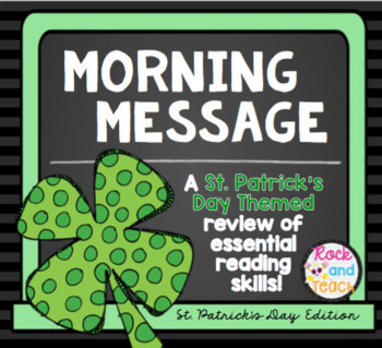 READING TEST PREP: Morning Message St. Patrick's Edition