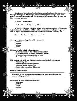 STAAR Reading Passage Practice Fiction - Winter Theme 1