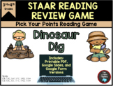 STAAR Reading Pick Your Points Game: Dinosaur Dig with Tas