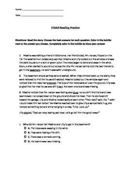 STAAR Reading Practice 3rd Grade