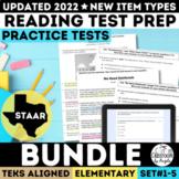 STAAR Reading Practice Tests Bundle Grades 3-5 | Print & Google Forms | New TEKS