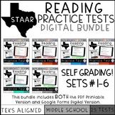 STAAR Reading Practice Tests Bundle plus Digital Files
