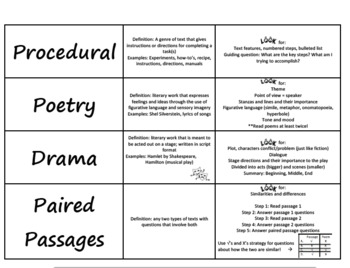 STAAR Reading Prep Foldable / Review