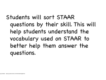 STAAR Reading Prep Question Analysis