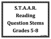 STAAR Reading Question Stems