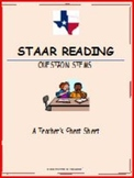 STAAR Reading Question Stems: A Teacher Cheat Sheet