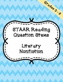 STAAR Reading Question Stems - Literary Nonfiction