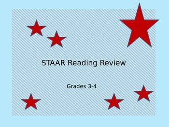 STAAR Summer School Reading Review Grades 3-4