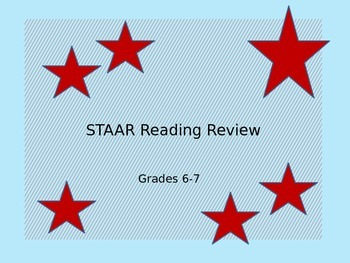 STAAR Summer School Reading Review Grades 6-7