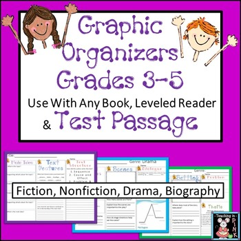 STAAR Reading Review for Fourth and Fifth Grade Graphic Organizers