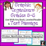 Graphic Organizers Reading Review for Fourth and Fifth Grade STAAR