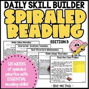 Reading Morning Work: Morning Message Edition 3