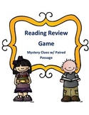 Reading Activity Game Test Review Mystery Clues with a Paired Passage