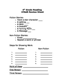 STAAR Reading Review Packet