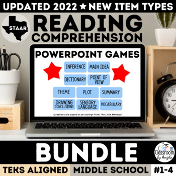 STAAR Reading Review PowerPoint Games Bundle