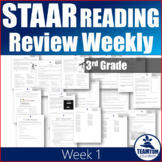 STAAR Reading Review Weekly (Third Grade)