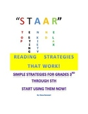 """STAAR"" Reading STRATEGIES for Grades 3rd-5th"