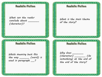 STAAR Reading Stem Questions Fictional Text