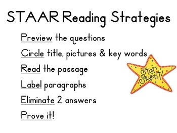 STAAR Reading Strategies 3rd Grade