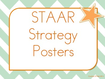 STAAR Reading Strategies Poster Set