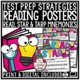 Print & Digital Reading Test Taking Strategies Posters for State Test Prep