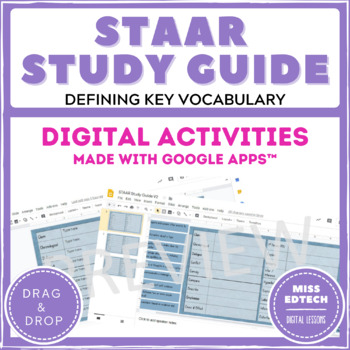 STAAR Reading Study Guide - Google Classroom Activity