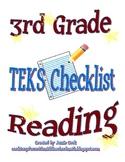 STAAR Reading TEKS Checklist (3rd Grade)