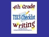 STAAR Writing TEKS Checklist (4th Grade)