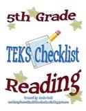 STAAR Reading TEKS Checklist (5th Grade)