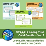 STAAR Reading Task Card Bundle-Vol. 2- Drama, Nonfiction a