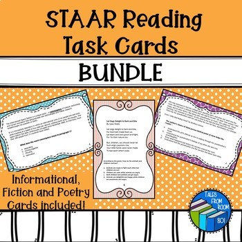 Staar passages teaching resources teachers pay teachers staar reading task cards bundle staar reading task cards bundle fandeluxe Images
