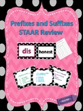 STAAR Reading Task Cards and Game for Prefix/Suffix Review