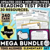 STAAR Reading Test Prep Mega Bundle Grades 3-5 | Print & Google Forms | New TEKS