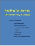 Reading Test Review (Nonfiction Story- 6 Concepts)