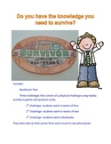 Reading Test Review Game Survivor Theme (Nonfiction text)