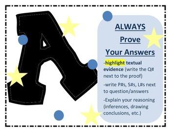 STAAR Reading Test Taking Strategies Posters